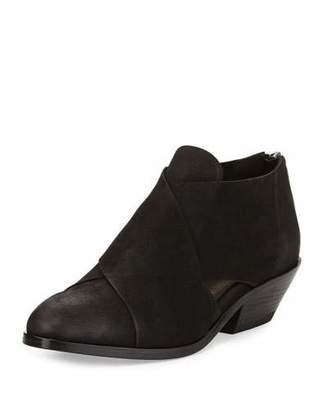 Eileen Fisher Cluster Leather Crisscross Bootie $250 thestylecure.com