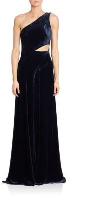 Ralph Lauren Collection Tess Velvet One-Shoulder Gown $5,990 thestylecure.com
