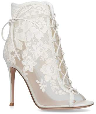 Gianvito Rossi Lace-Up Ankle Boots 105