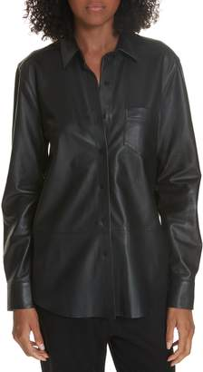 Equipment Brett Leather Blouse