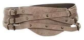 Plein Sud Jeans Leather Waist Belt
