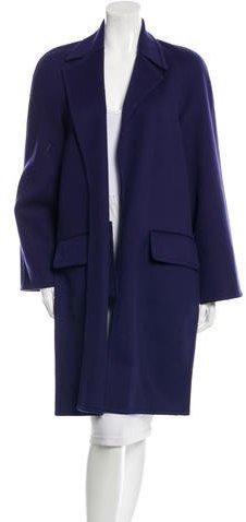 CelineCéline Wool Long Sleeve Oversized Coat