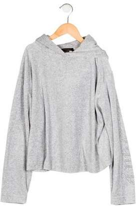 Juicy Couture Girls' Velour Hooded Sweater