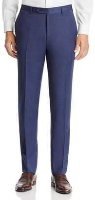 Canali Siena Melange Twill Solid Classic Fit Dress Pants