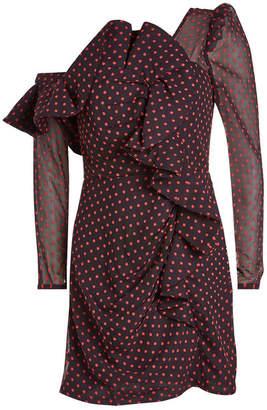 Self-Portrait Off-Shoulder Printed Dress