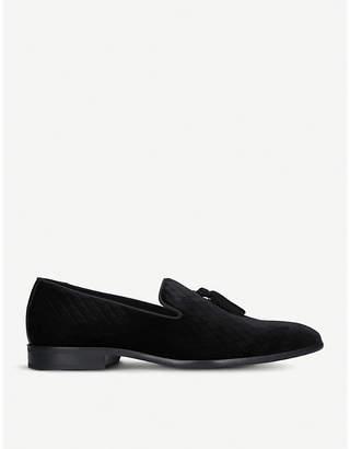 Kurt Geiger London Randolph velvet tassel loafers