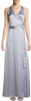 Diane von Furstenberg Sleeveless Floor-Length Wrap Dress