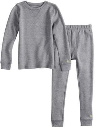 Cuddl Duds Toddler Boy Gray Thermal Top & Bottoms Set