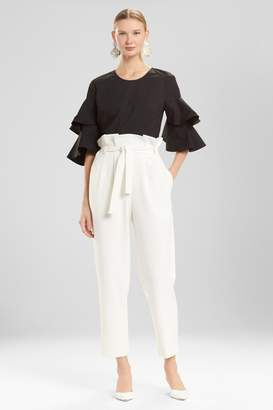 Josie Natori Core Crepe Paper Bag Waisted Pants