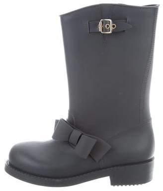 RED Valentino Rubber Rain Boots
