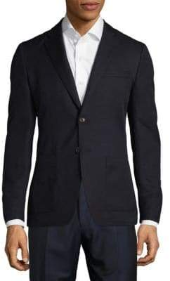 Michael Kors Slim Fit Textured Cotton-Blend Sportcoat