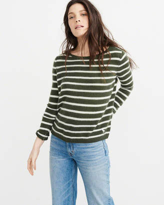 Abercrombie & Fitch Cashmere Striped Boatneck Sweater