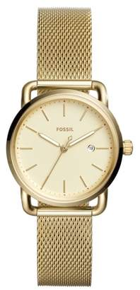 Fossil The Commuter Mesh Strap Watch, 34mm