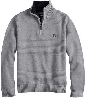 Chaps Boys 4-20 Raymond Quarter-Zip Sweater