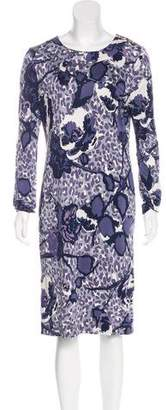 Tory Burch Abstract Print Midi Dress