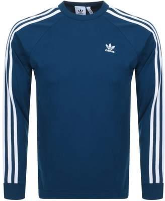 adidas Long Sleeve T Shirt Blue