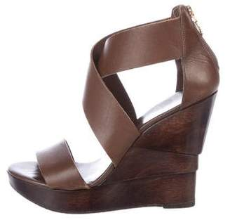 Diane von Furstenberg Leather Platform Wedges