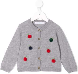 Familiar pompom-embellished cardigan