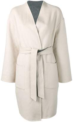 Pinko belted single-breasted coat