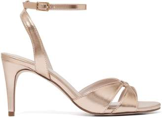 Forever New Tiana Low Stiletto Heel - Rose Gold - 36