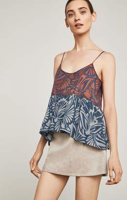 BCBGMAXAZRIA Sabrina Faux-Suede Wrap Skirt