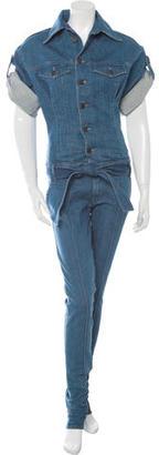 Diesel Short Sleeve Denim Jumpsuit w/ Tags $110 thestylecure.com