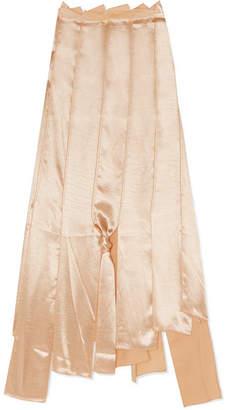 Ralph Lauren REJINA PYO Asymmetric Satin Midi Skirt - Gold