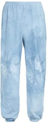 Audrey Louise Reynolds - Straight Leg Cotton Track Pants - Mens - Blue