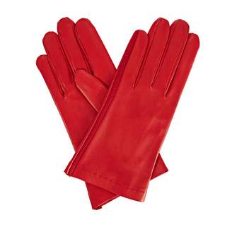 Arabella Gizelle Renee Red Leather Gloves With Red Cashmere