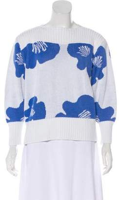 Courreges Pattern Rib-Knit Sweater