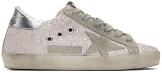 Golden Goose SSENSE Exclusive Pink Glitter Superstar Sneakers