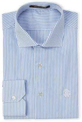 Roberto Cavalli Blue Contrast Stripe Dress Shirt