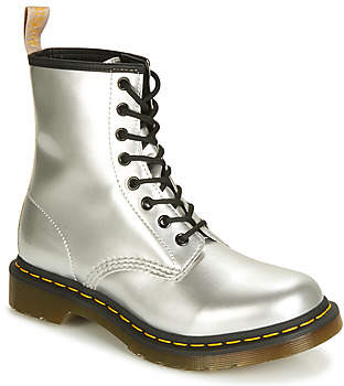 Dr. Martens 1460 Vegan women's Mid Boots in Silver