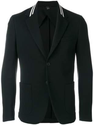 Fendi striped lapel blazer