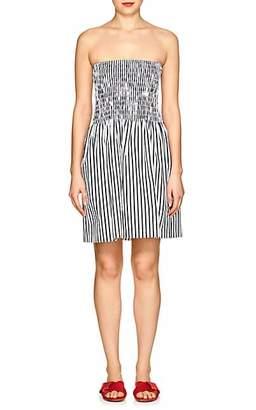 ATM Anthony Thomas Melillo Women's Striped Cotton Strapless Dress - White