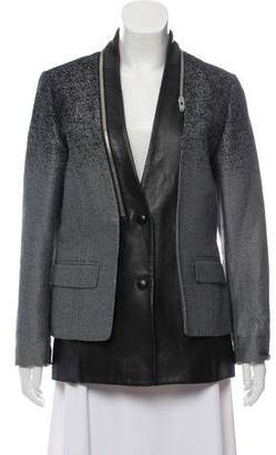 Alexander Wang Leather-Trimmed Casual Jacket