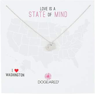 Dogeared State of Mind North Carolina Sterling Chain Necklace