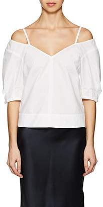 Derek Lam 10 Crosby WOMEN'S CUTOUT-SHOULDER COTTON POPLIN TOP