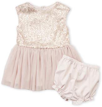 Pippa & Julie (Infant Girls) Two-Piece Sequin Embellished Tutu Dress & Bloomers Set