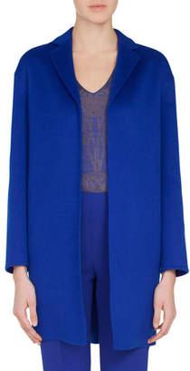 Akris Mae Snap-Closure Cashmere Topper Jacket
