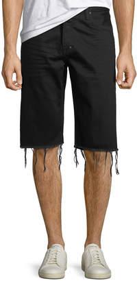 PRPS Men's Frayed-Hem Denim Shorts