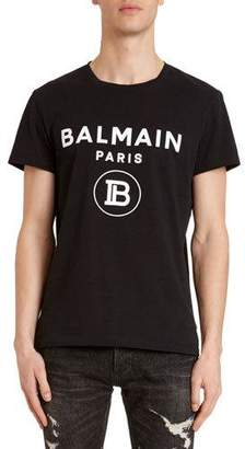 Balmain Men's Paris Logo T-Shirt