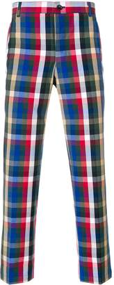 Thom Browne Gingham Tartan Cotton Suiting Unconstructed Chino Trouser