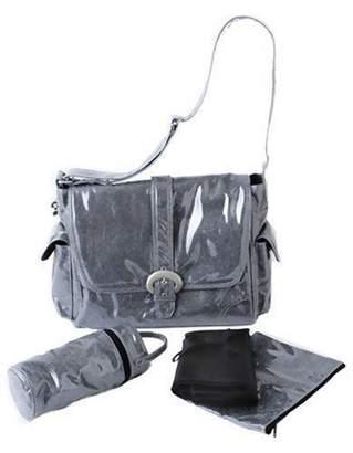 Kalencom Laminated Buckle Bag, Black Crystals by