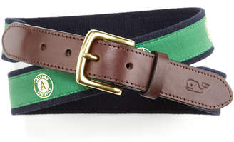 Vineyard Vines Oakland A's Canvas Club Belt