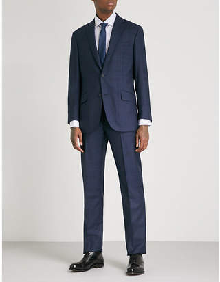 Richard James Checked regular-fit wool suit