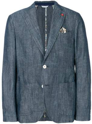 Manuel Ritz textured casual blazer