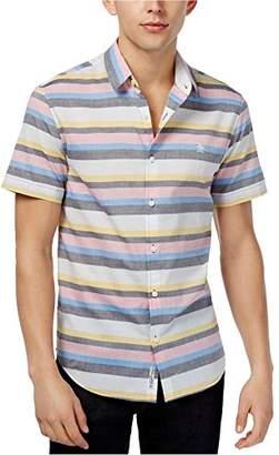 Original Penguin Men's Short Sleeve Stretch Lawn Stripe Shirt