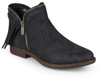 Co Brinley Women's Fringed Almond Toe Riding Booties