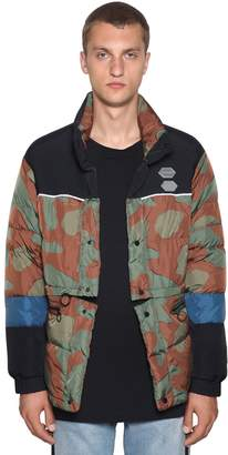Off-White Camouflage Nylon Down Jacket